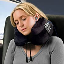 Cabeau Inflatable Neck Pillow and Travel Pillow with Small Portable Pouch - Air Evolution