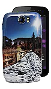 ECellStreet Exclusive Printed Back Case Cover Back Cover ForMicromax Canvas 2 A110 / A110Q Canvas 2 Plus - Bridge