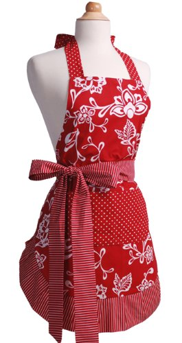 Flirty Aprons Women's Original Apron, Sassy Red