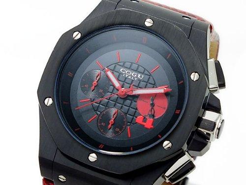 [コグ]COGU クロノグラフ メンズ 腕時計 CR8S-RDS