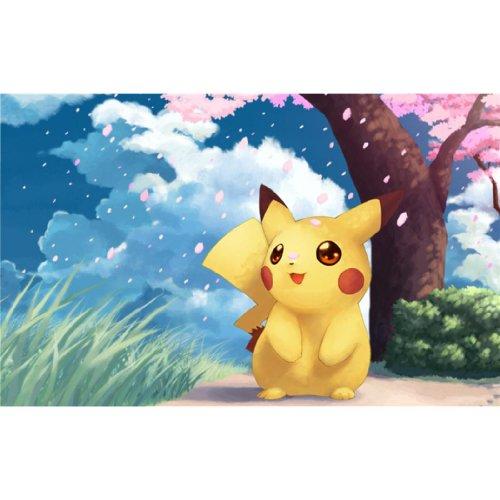 Pikachu-Poster-On-Silk-56cm-x-35cm-22inch-x-14inch-Cartel-de-Seda-BDEE13