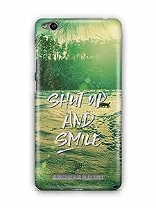 YuBingo Shut Up and Smile Designer Mobile Case Back Cover for Xiaomi Redmi 3S