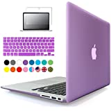iBenzer® - 3 in 1 Purple Soft-Touch Plastic Hard Case Cover & Keyboard Cover & screen protector for Macbook Air 13'', Purple MMA13PU+2