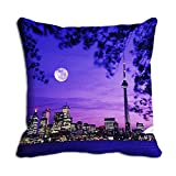meSleep Blue Night City 3D Cushion Cover