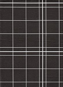 White Lines Flannelback Vinyl Tablecloth in Black, 52x52 Square