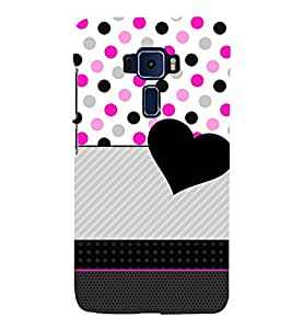 Love Dotted Pinkish Pattern 3D Hard Polycarbonate Designer Back Case Cover for Asus Zenfone 3 Deluxe ZS570KL