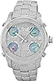 "JBW Men's JB-6213-C ""Jet Setter"" Silver Stainless Steel Five Time Zone Diamond Watch"