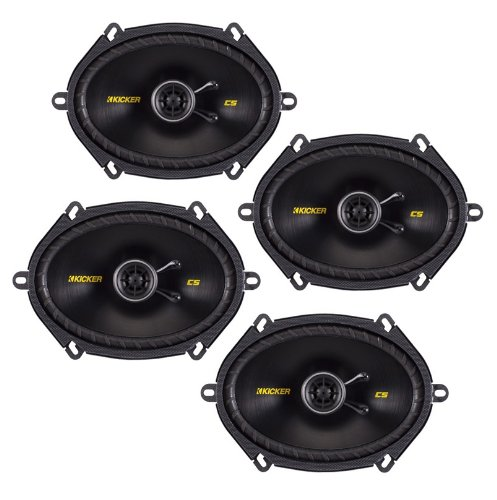 "4) New Kicker 40Cs684 6X8"" 900W 2 Way Car Coaxial Speakers Stereo Audio Cs684"