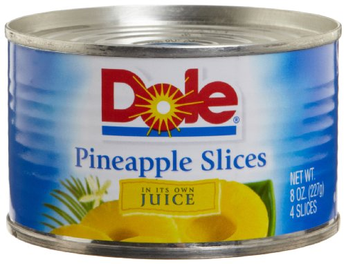 Dole Pineapple Slices in Juice 8 Ounce Cans Pack of 24
