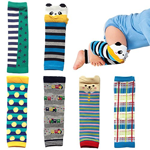 Elesa Miracle 6-pack Baby & Toddler Cozy Soft Leg Warmers, Kneepads, Gift Set for Boys & Girls (New Arrival-Boy Set)
