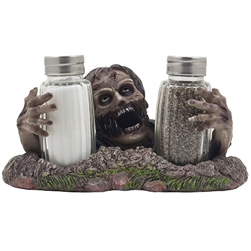 Graveyard Zombie Glass Salt & Pepper Shaker Set