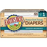 Earth's Best Chlorine-Free Diapers, Size 1, 44 Count (Pack of 4) (Packaging May Vary)