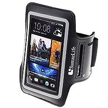 buy Sumaclife Sports Workout Running Armband For Htc One / Htc One X+ / Htc One S / Htc One 8X And More Smartphone (Black-Neoprene)