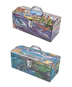 Sainty Art Works 24-518 Beep  Art Deco Tool Box, Feeding Frenzy Art Deco Tool Box
