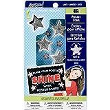 ArtSkills Poster Stars, 4 Flashing Stars with 5 LED Lights Each, Peel-n-Stick Foam Squares (PA-1324)