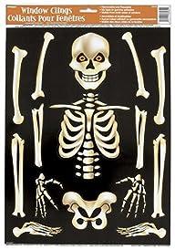 Skeleton Halloween Window Clings