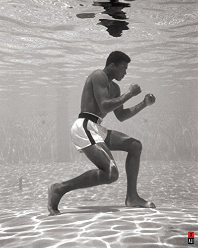 цены на  Muhammad Ali Training Under Water Celebrity Sports Boxing Icon Poster Print 16 by 20