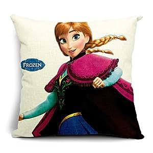 Amazon.com - Personalized Frozen Cotton Linen Decorative Square Throw Pillow Cover Cushion Case ...