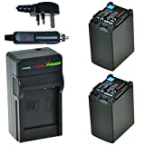 ChiliPower Canon BP-827 Kit: 2x Battery (2700mAh) + Charger (UK Plug) for Canon VIXIA HF G10, HF G20, HF M30, HF M31, HF M32, HF M40, HF M41, HF M300, HF M400, HF S10, HF S11, HF S20, HF S21, HF S30, HF S100, HF S200, HF10, HF11, HF100, HF20, HF21, HF200