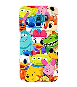 EPICCASE Cartoons Mobile Back Case Cover For Samsung Galaxy S6 Edge (Designer Case)