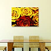 House Things Roses Canvas Print 29 X 20.56, Inches Wall Décor Art