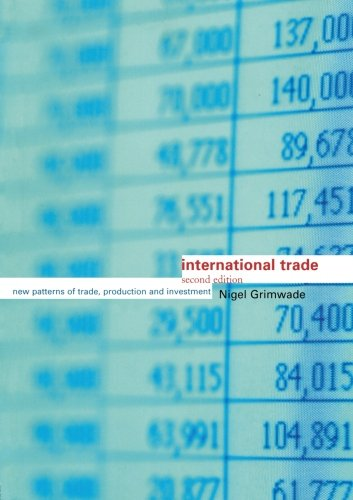 International Trade: New Patterns of Trade, Production and Investment