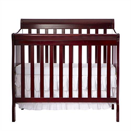 Dream On Me 3 in 1 Aden Convertible Mini Crib, Cherry