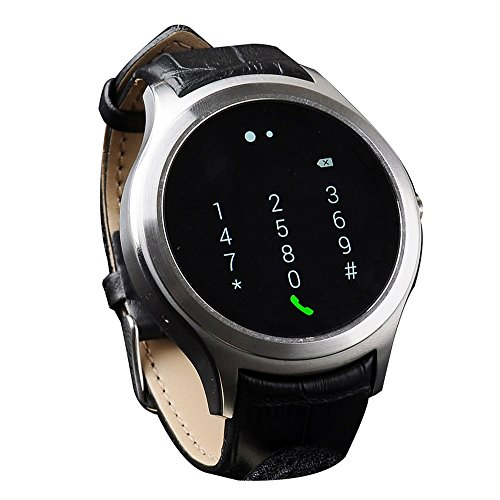 "Lincass Smartwatch Android4.4 3G Smart watch MTK6572 1.3""IPS 512MB RAM 4Gb ROM GPS AGPS 1.2G Dual Core Support Wifi Hands-free Gravity Sensor Fitness Tracker (Grey)"