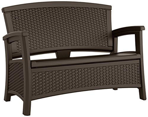 Suncast ELEMENTS® Loveseat with Storage, Java