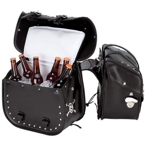 Beer Bags PVC Motorcycle Saddle Bag Set