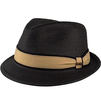 Scala dress straw snap brim paper braid hat.