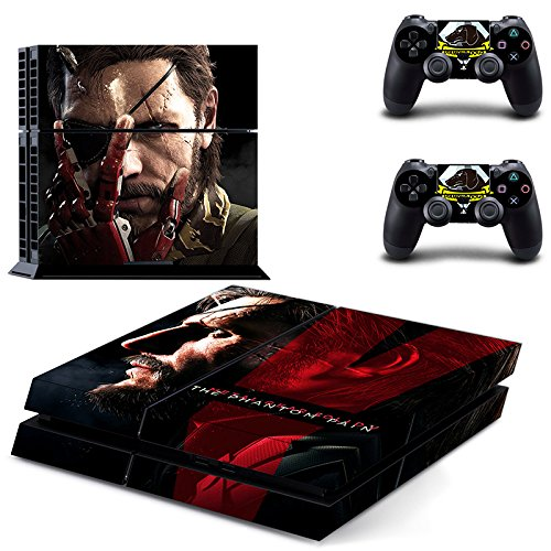 MightySticker® PS4 Designer Skin Game Console + 2 Controller Decal Vinyl Protective Covers Stickers f Sony PlayStation 4 - Metal Gear Solid V The Phantom Pain 5 Scarface Blackbeard Eye Patch Pirate (Metal Gear Solid 4 Pc compare prices)