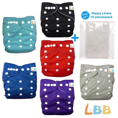Baby 6Pcs Pack Pocket Adjustable Cloth Diaper?(Boy Color) 6Bm99
