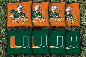 Buy Miami Hurricanes Cornhole Bag Replacement Set (Corn Filled) Corn Hole by Gameday Cornhole