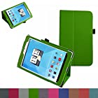 Mama Mouth Folio 2-folding Slim Fit Stand Case Cover For 7.85 Trio AXS 4G 3G Android Tablet Green