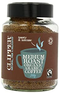 Clipper Fairtrade Medium Roast Organic Arabica Instant Coffee 200 g (Pack of 2)