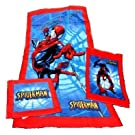 Childrens/Kids Spiderman three 3 piece towel set (bath, hand and face)