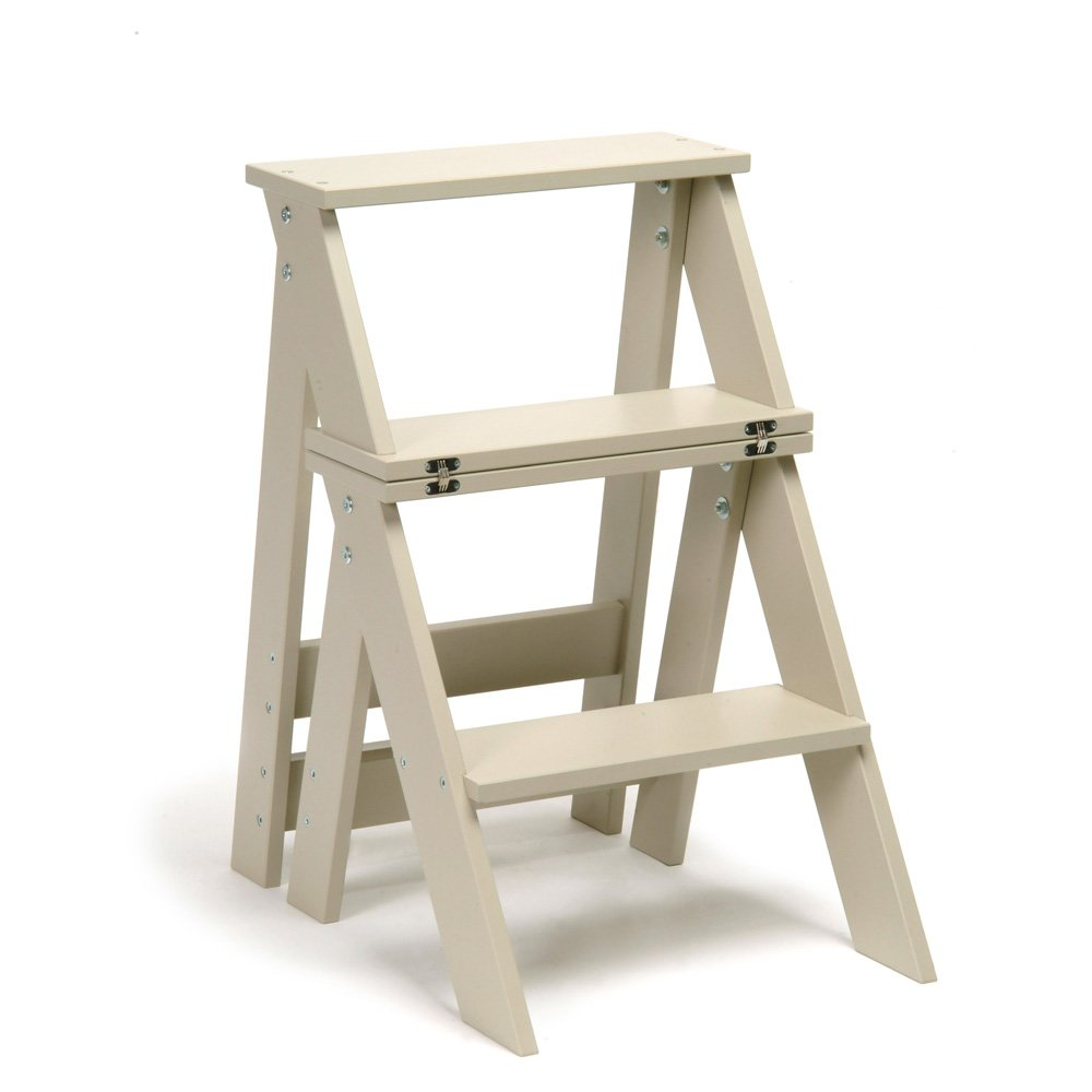 Useful Wooden Folding Kitchen Steps/ Chair   2 in 1 Essential Utility       reviews and more information