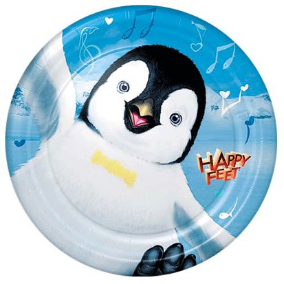 Happy Feet Lunch Plates 8ct - 1