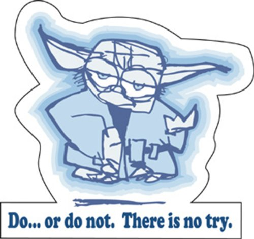 Licenses Products Star Wars Do or Do Not Sticker