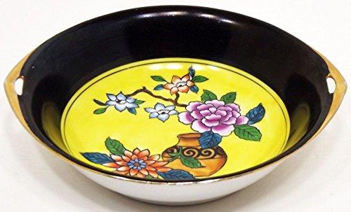 Vintage Noritake Hand Painted Floral Scene Handled Bowl Meito China Japan