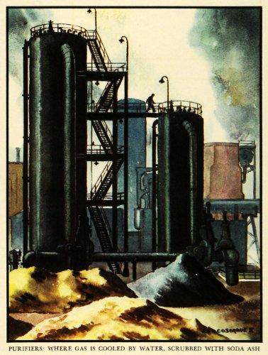 1937 Print Koppers Coal Tar Soda Ash Cosgrave Machinery Gas Artwork Coke Gas - Original Color Print (Tar Soda compare prices)
