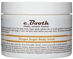 C. Booth Body Scrub, Ginger Sugar 8 oz (227 g)