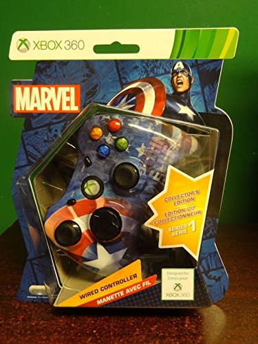 Rare Marvel Captain America Xbox 360 Collector's Edition Wired Controller Series 1 (Captain America Game Xbox 360 compare prices)