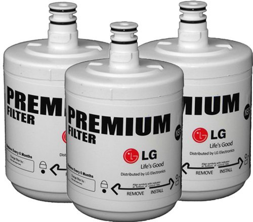 Premium Refrigerator Replacement Water Filter (3 pack), fits LG ADQ72910901 (Lg Lsc26905tt Water Filter compare prices)