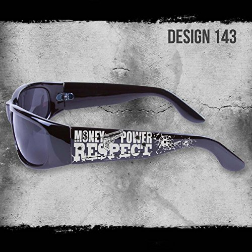 MONEY POWER RESPECT SHADES BLACK SUNGLASSES CHOPPERS CITY LOCS CHICANO RAP NWT (Chicano Locs compare prices)