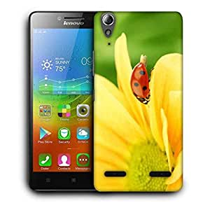 Snoogg Small Insect Printed Protective Phone Back Case Cover For Lenovo A6000