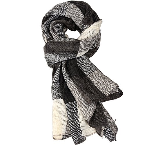 Damen-der-Frauen-Cashmere-Gefllt-HerbstWinter-Splicing-Design-Schal-Wraps-Stola-Halstcher