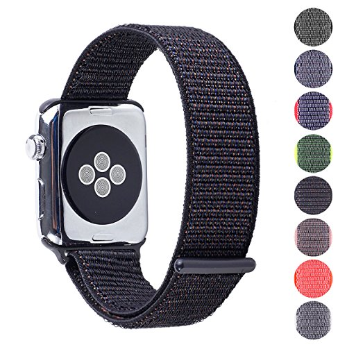 527353dac0a Woven Velcro Nylon Replacement Apple Watch Band by Pantheon