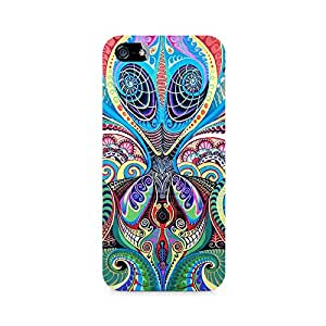 NXT GEN Psychedelic Alien Premium Printed Mobile Back Case For Apple iPhone 5/5s